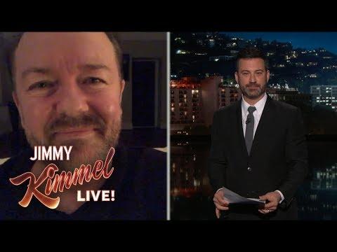 Cover Lagu Jimmy Kimmel Interviews Super Humble Ricky Gervais