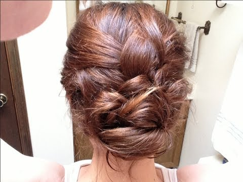 Loose Braided Bun Hair Tutorial