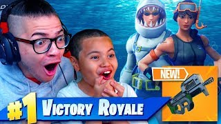 *NEW* INSANE SHARK UNDERWATER SKIN! *NEW* SMG COMING TO FORTNITE BATTLE ROYALE! 9 YEAR OLD KID!