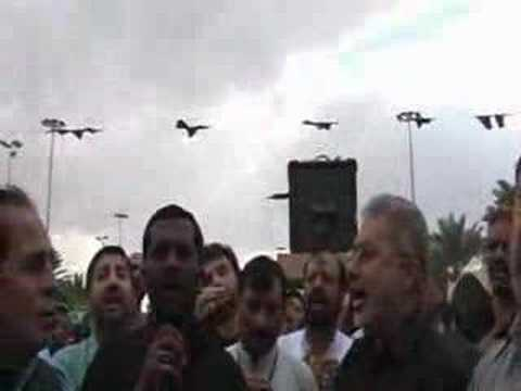 Matam in front of Roza E Hz Abbas