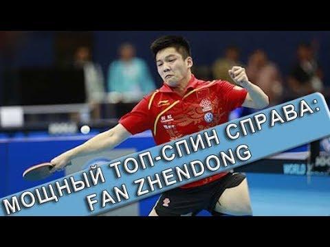 МОЩНЫЙ ТОП-СПИН СПРАВА FAN ZHENDONGа и ответы на вопросы любителей настольного тенниса по топ-спину!