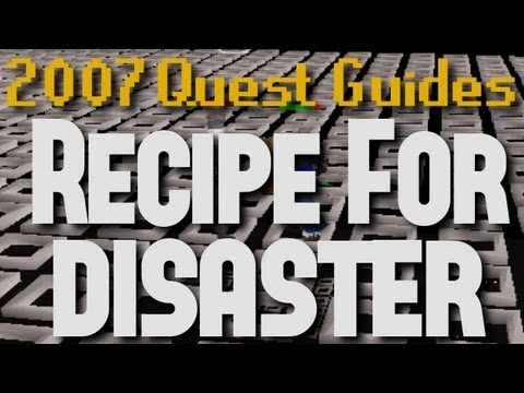 Runescape 2007 Quest Guides: Recipe For Disaster (Full Boss Fight)