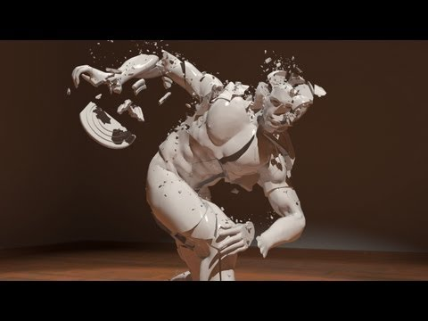 Gentle Art of Demolition - CGI animated 3d short movie, Rayfire, Pflow Simulations