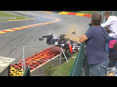 Marcello Marateotto Huge Crash @ 2014 Radicals Spa Race 1
