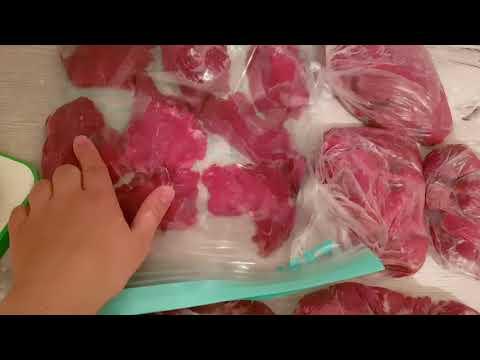 Заготовки мясных полуфабрикатов/ Заготовки еды на месяц/ готовим быстро/закупка мяса