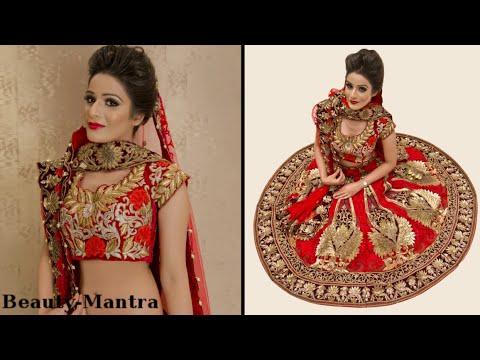Indian Bridal Makeup - Gold Eye Makeup and Winged Eye Liner