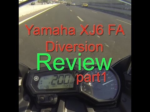 Yamaha XJ6 / FZ6R FA Diversion (or Yamaha FZ6R.) Review & Testdrive (part one)