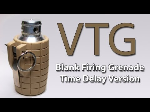 Airsoft Flashbang Grenade Review - The VTG blank firing 
