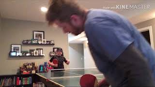Ping pong with dad