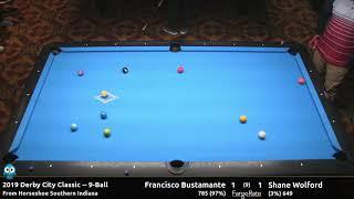 Francisco Bustamante vs Shane Wolford - 9-Ball - 2019 Derby City Classic