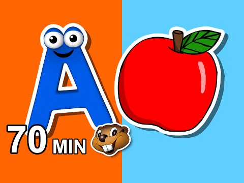 """""""Alphabet Phonics Songs"""" & More   Busy Beavers 70 Min Kids Compilation, Baby Learning, Kindergarten"""