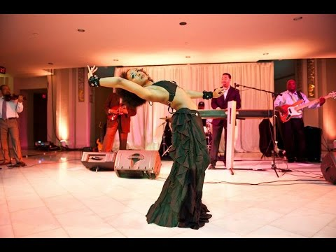 Improvised Fusion Belly Dance - Smells Like Teen Spirit, Live Jazz Band, Marcus Johnson, Ebony video