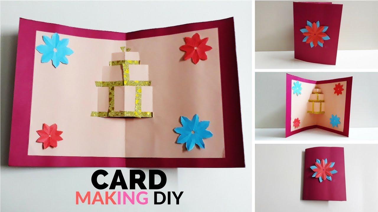 Diy Handmade Flower Card Beautiful Birthday Idea
