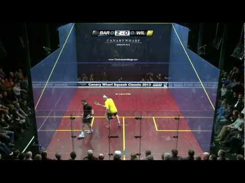 Squash : Canary Wharf Classic 2013 - Final Roundup - James Willstrop v Peter Barker