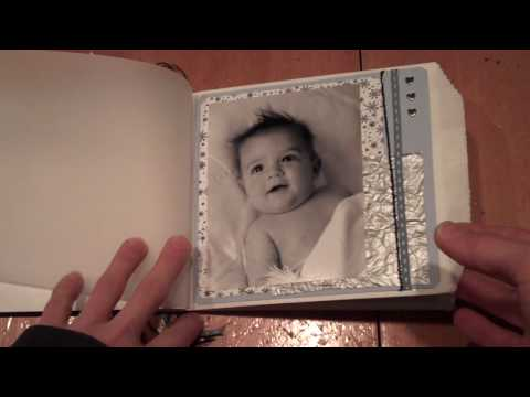 paper bag scrapbook using white bags Video