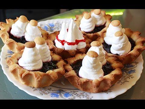 Пирожное корзиночки - готовлю пирожное корзиночка с белковым заварным кремом.