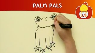 Palm Pals | How to draw frog and mouse? | Cartoon for Children - Luli TV