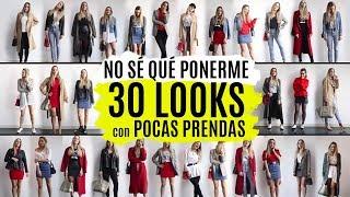 30 looks con pocas prendas    LOOKBOOK ARMARIO CÁPSULA 2018