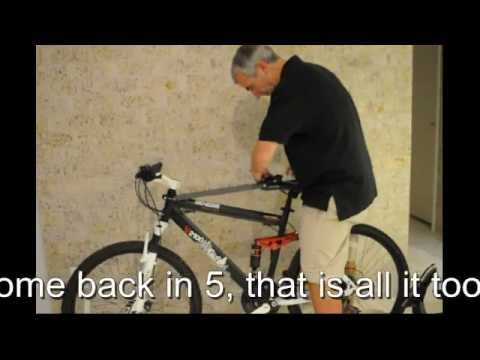 Fitting a WeeRide Safest Bike Seat in 5 mins.wmv