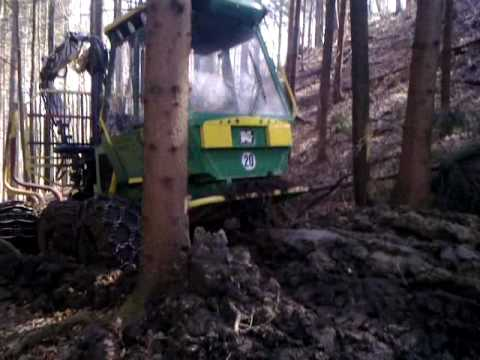 Norcar 490 Forwarder in mud
