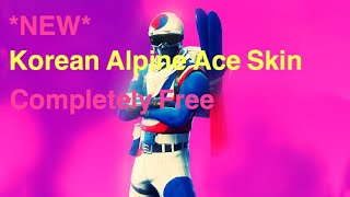 *NEW* How To Get Korean Alpine Ace Skin For Free Ps4/Xbox November 2018! Fortnite Battle Royale