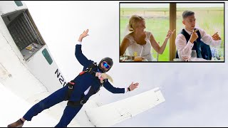 EPIC FATHER OF THE BRIDE SPEECH WITH SKYDIVE