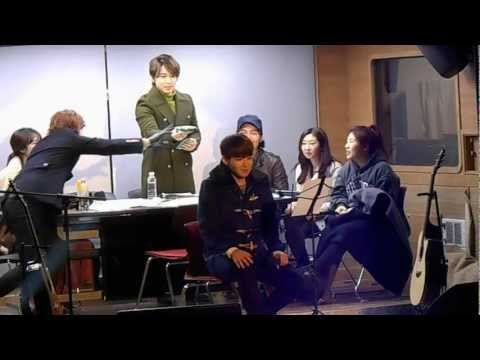 [FANCAM] 130130 Ryeowook sings live &#039;I Miss You - Kim Bum Soo&#039; at Sukira Open Studio