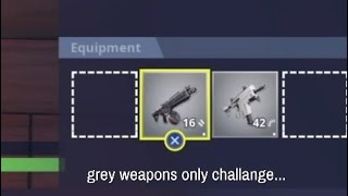 So we are only allowed to pick up grey weapons...