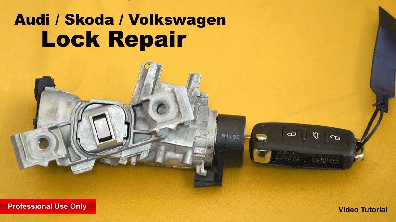 Audi / Skoda / Volkswagen Lock Repair - YouTube