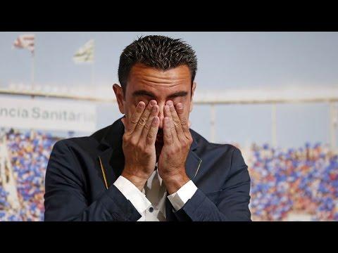 FC Barcelona midfielder Xavi's farewell event