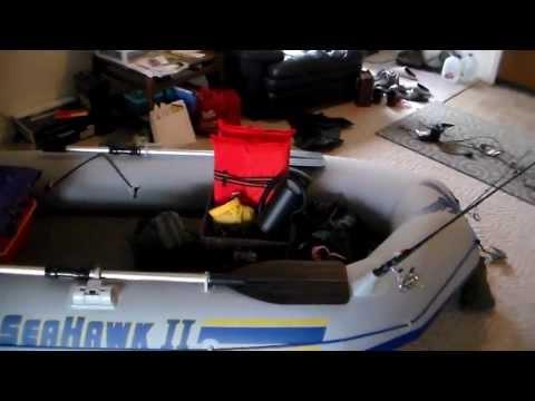 Intex Seahawk II. customized inflatable fishing boat