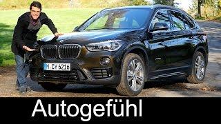 BMW X1 FULL REVIEW test driven all-new neu 2nd gen Sport Line 2017/2016 F48