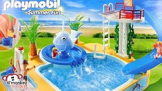 Playmobil Summer Fun Children's Pool with Whale Fountain