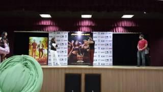 Varun Dhawan at Chandigarh University..   Varun mimiks WWE ROCK DWYANE JOHNSON..