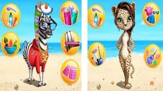 Animal hair salon jungle 2/ Learn colors Finger Family song for baby
