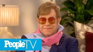 Elton John Says His Two Sons Love Animation Movies & Can't Wait To See 'Sherlock Gnomes' | PeopleTV