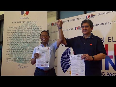 UNA'S Binay, Honasan first tandem to file COCs