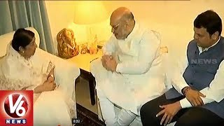 BJP President Amit Shah Meets Lata Mangeshkar As Part On Sampark Campaign