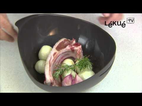 Lékué TV | Asador al Vapor | Receta: Cordero con ajos y cebolletas al aroma de romero