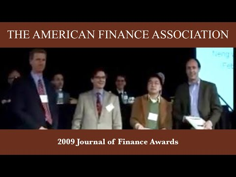 2009 Journal of Finance Awards