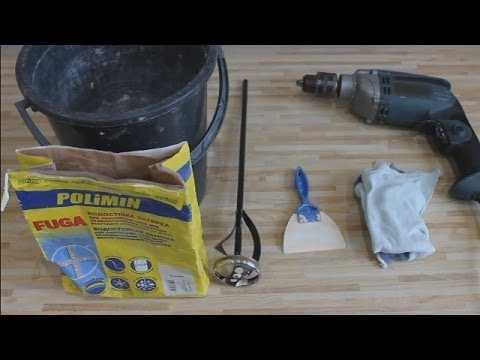 Видео как затирать плитку