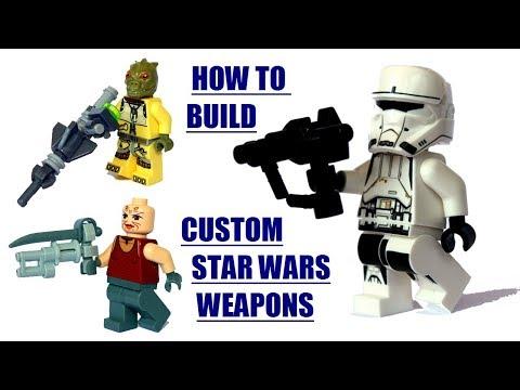 How to build custom Star Wars LEGO weapons - modern/sci-fi/ LEGO GUNS/ LEGO MOC
