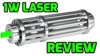 1W 532nm Green Burning Laser Pointer Review