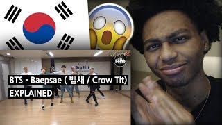 FIRST REACTION | BTS - BAEPSAE (뱁새 / Crow Tit) Explained by a Korean