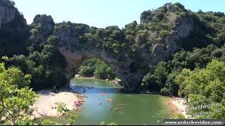 La descente des Gorges de l'Ardèche - Le rapide du Charlemagne  en Timelapse