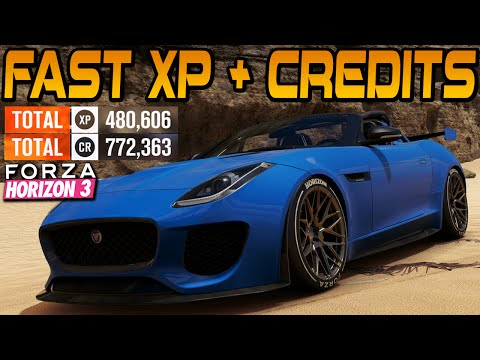 Forza Horizon 3 FASTEST XP & CREDITS! (500k XP and 1M+ CR per hour)