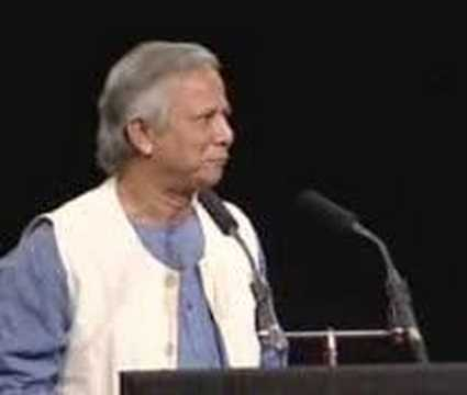 Muhammad Yunus speaking at The Elders' founding event July 2007