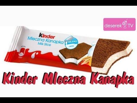 Jak Zrobić Kinder Mleczną Kanapkę - Deserek.TV