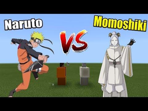 NARUTO vs MOMOSHIKI | Minecraft PE