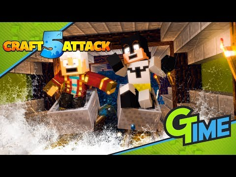 ÜBERFLUTUNG beim U-BAHN ANBAU! - Minecraft Craft Attack 5 #58 | Gamerstime